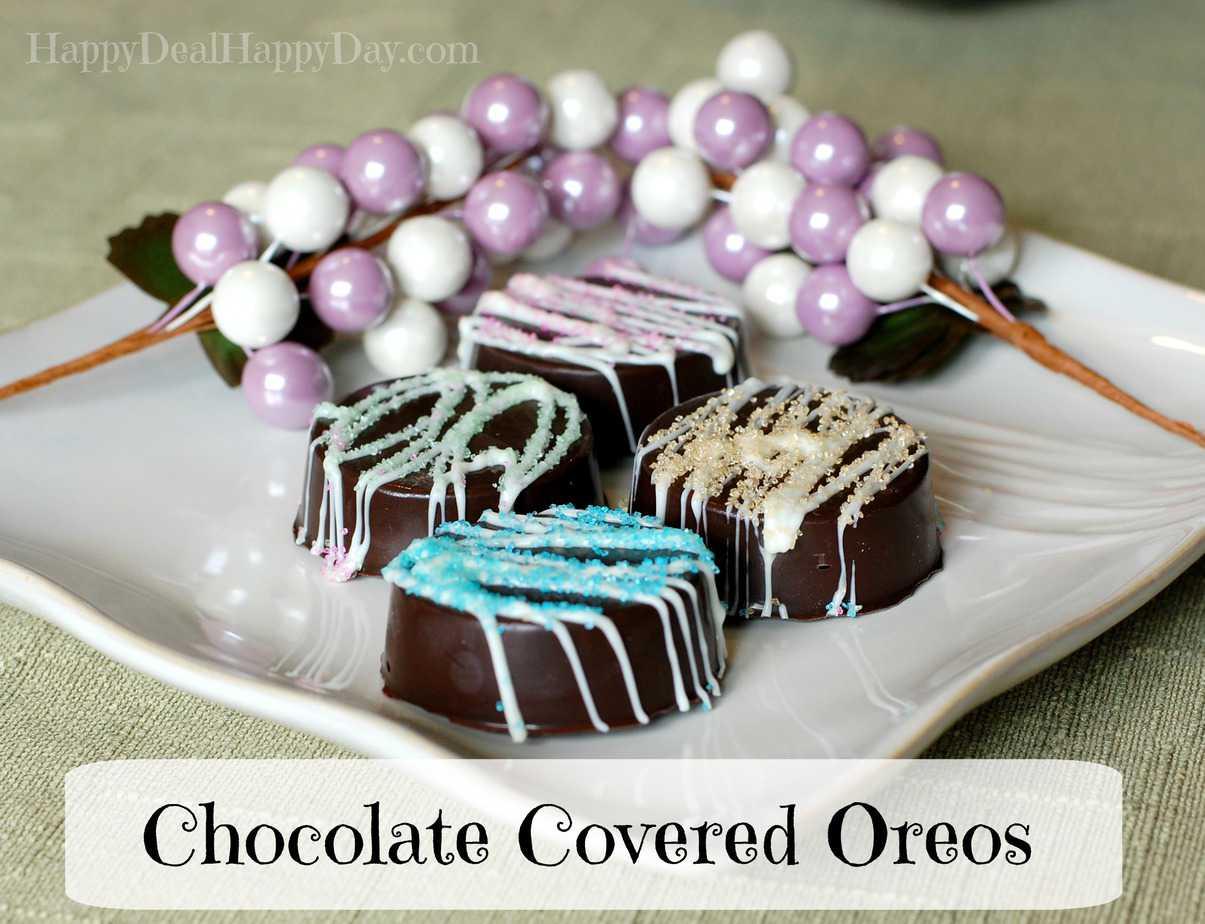 Chocolate Covered Oreos – Spring Version!