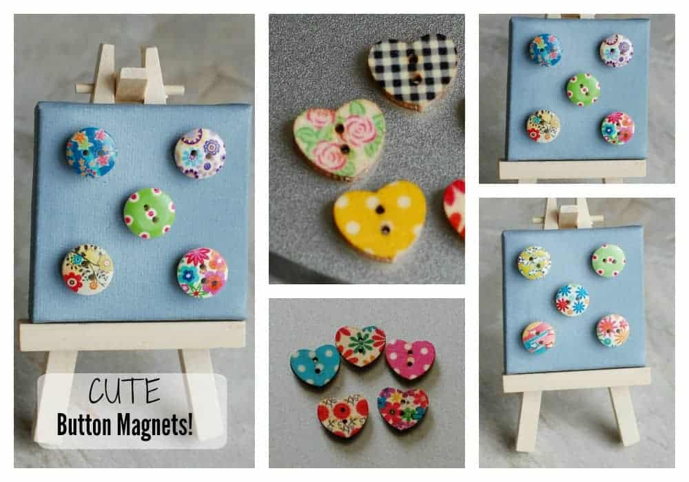 Cute Button Magnets – Stronger than Average Magnets!
