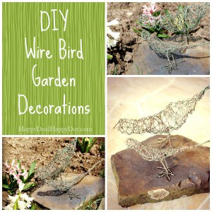 DIY Wire Bird Garden Decorations