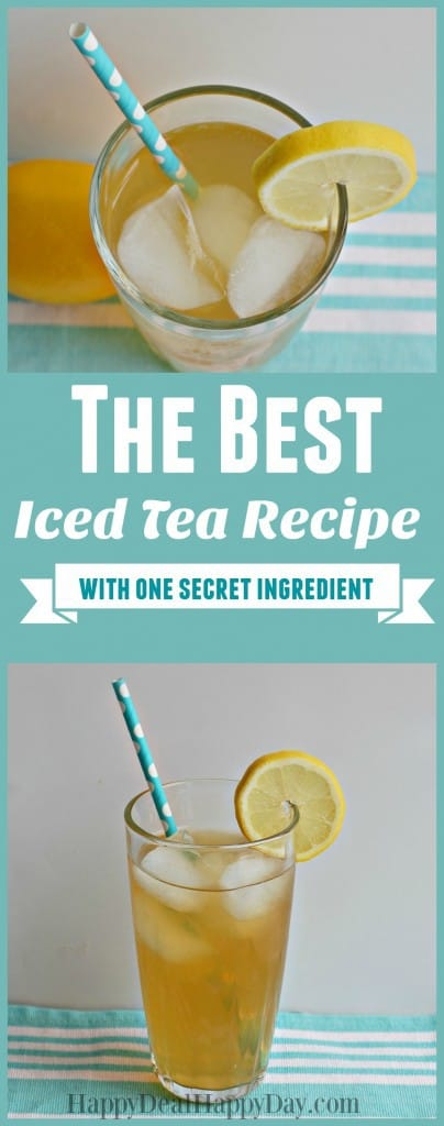 The BEST iced tea recipe I've ever had - one secret ingredient makes all the difference!