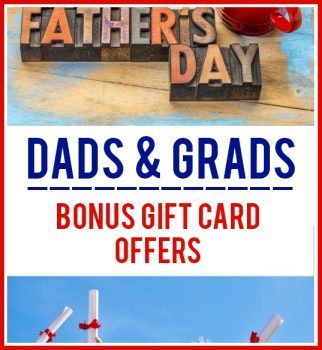 Dads & Grads – Restaurant Bonus Gift Card Offers – 15+ Offers!