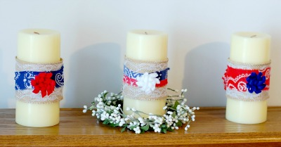 4th of July Decorations | DIY Patriotic Candles