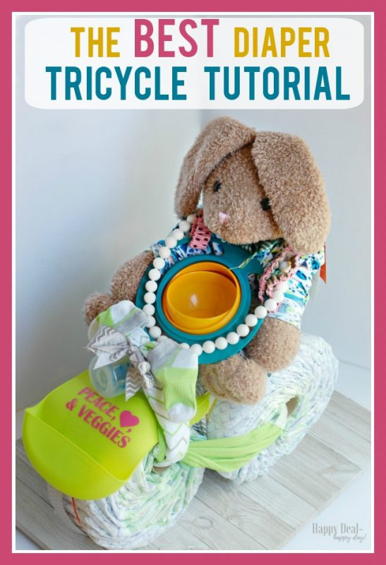 DIY Diaper Tricycle Tutorial for a Baby Shower Gift - The Best Step By Step Guide To Make Your Own!