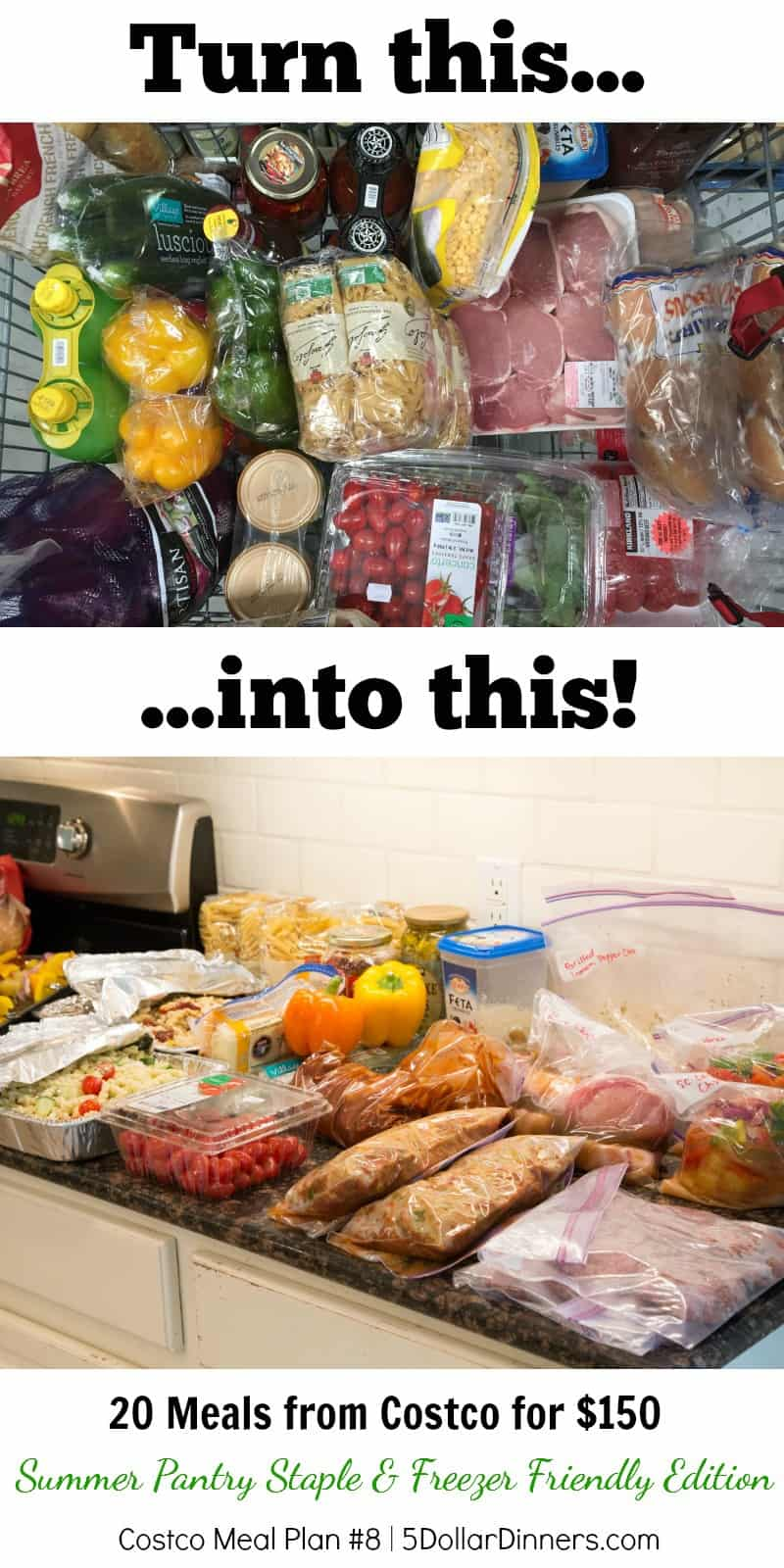 Get 20 Meals from Costco for $150 – Summer Pantry Staple & Freezer Friendly (Plan #8)!!!!