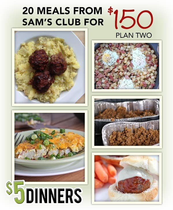 Meal Planning:  2 Options for Sam's Club Shoppers – Make 20 Meals for $150!