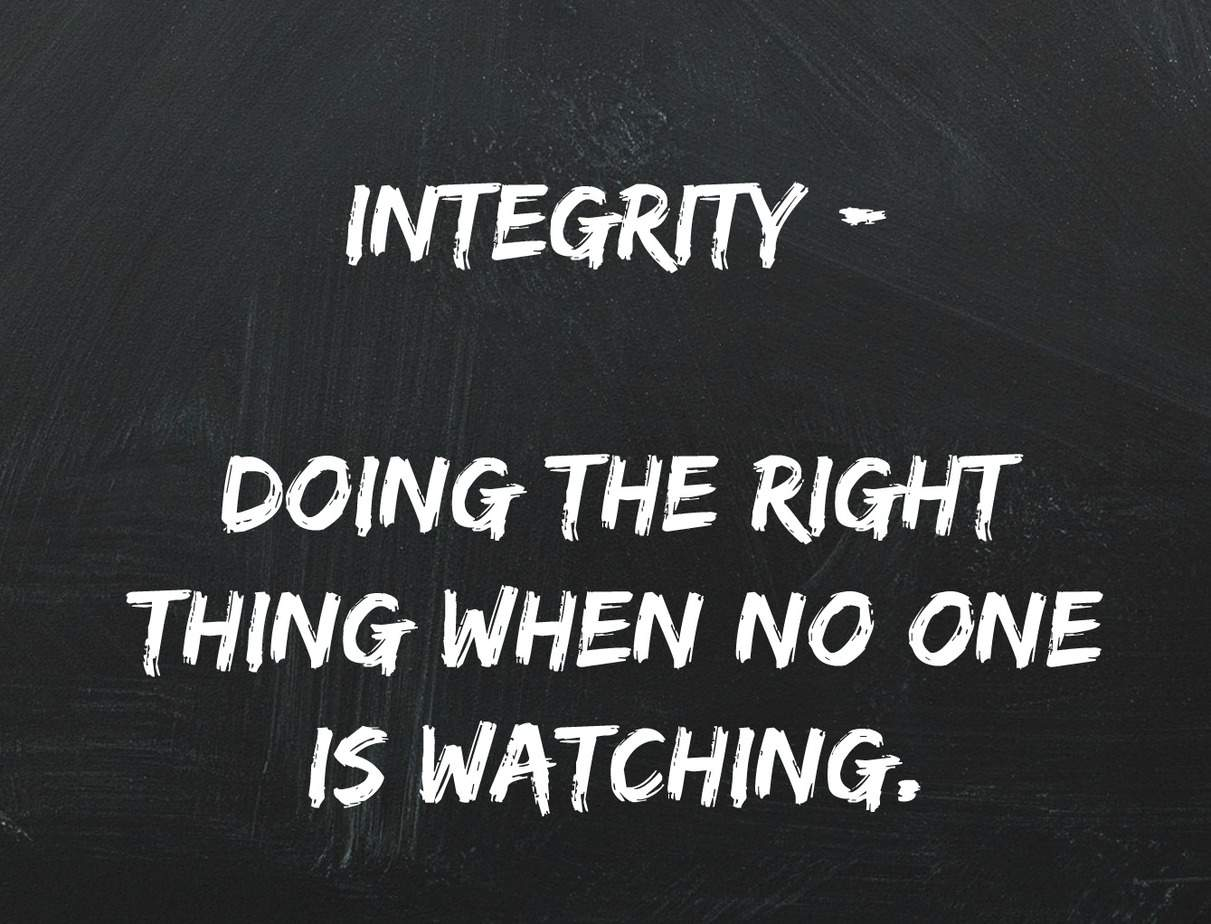 Quote from Catching Faith | Christian Movie Review - love this quote on Integrity!