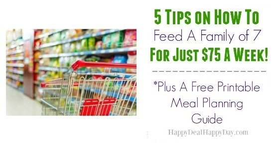 5 tips on how to feed a family of 7 for just 75 a week plus free printable meal planning guide. Black Bedroom Furniture Sets. Home Design Ideas