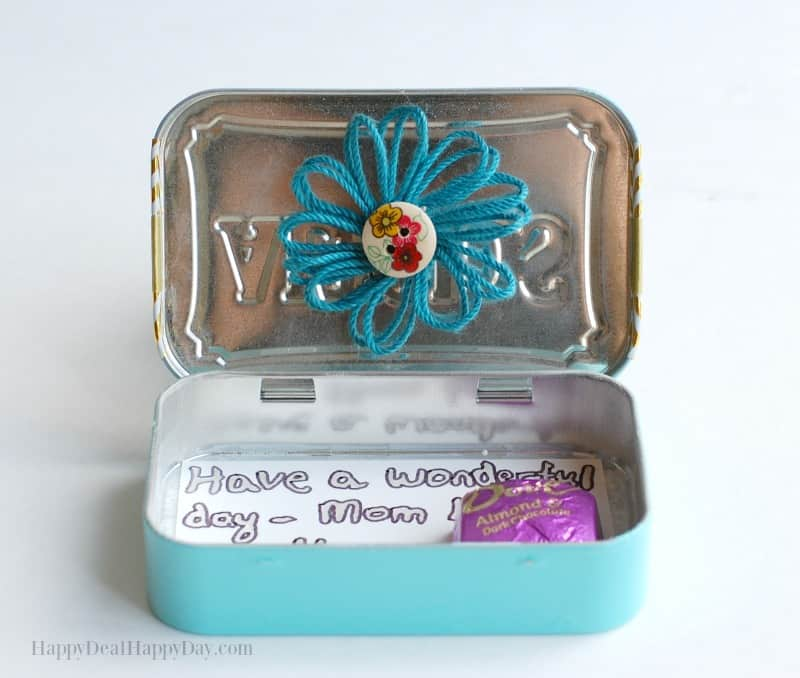 DIY Lunch Box Treat & Note Holder 6