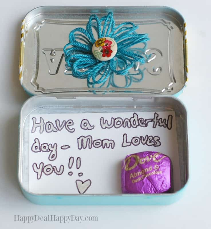 DIY Lunch Box Treat & Note Holder 7