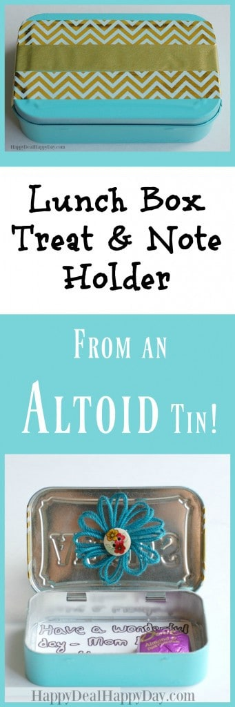 DIY Lunch Box Treat & Note Holder - this is super cute! Write new notes and stick in a treat for your kiddo each day!