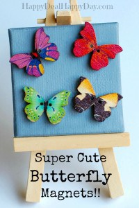 Cute Butterfly Magnets (My #1 Seller at a Recent Craft Fair!)  Use in Lockers!