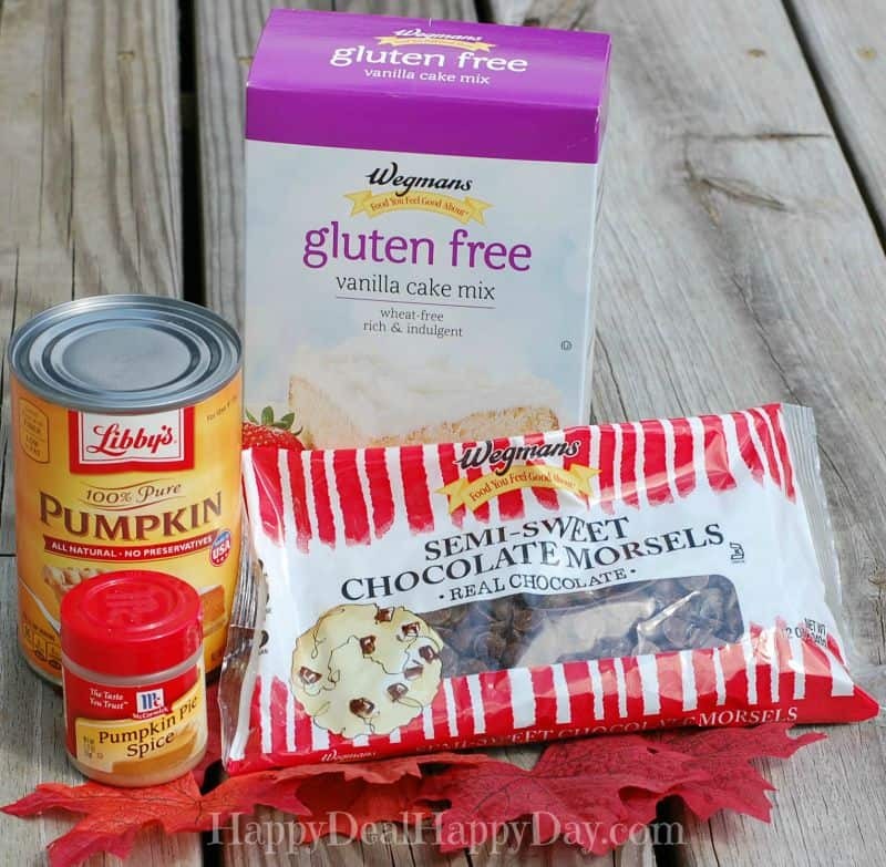 gluten free pumpkin muffin ingredients
