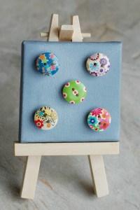 round wooden button magnet 2