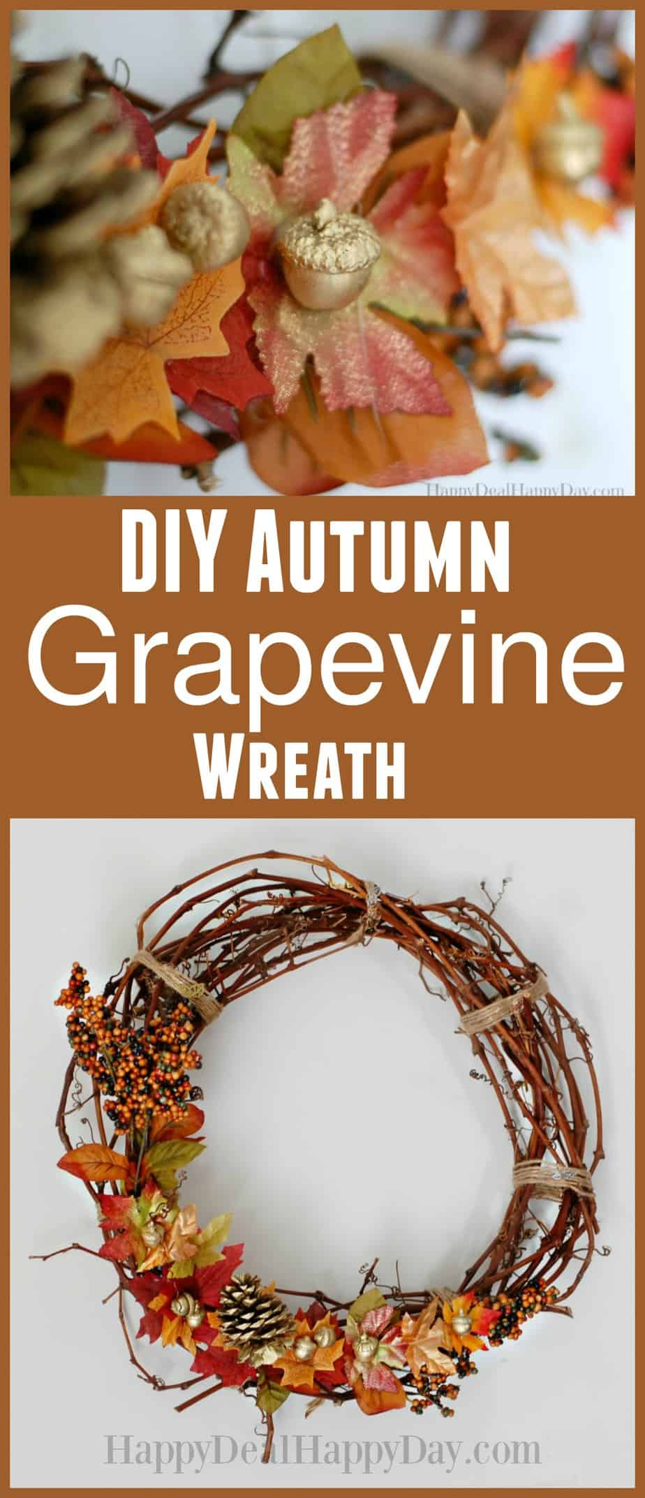 Simple Fall Wreath: How To Make An Autumn Grapevine Wreath