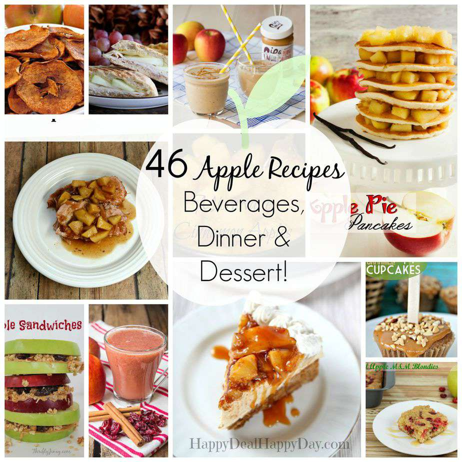 apple recipe collage