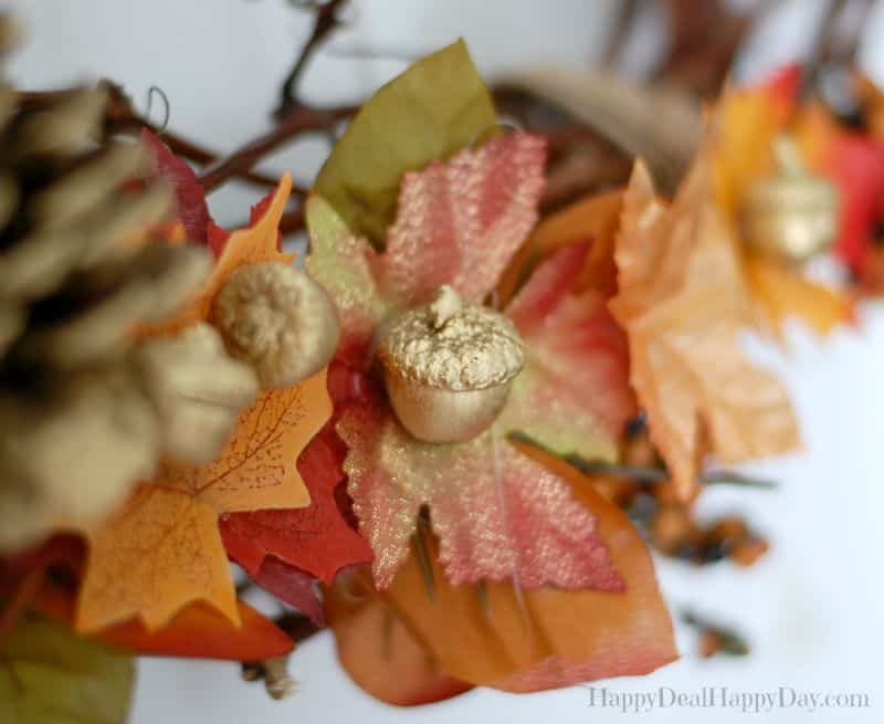 diy autumn grapevine wreaths acorn