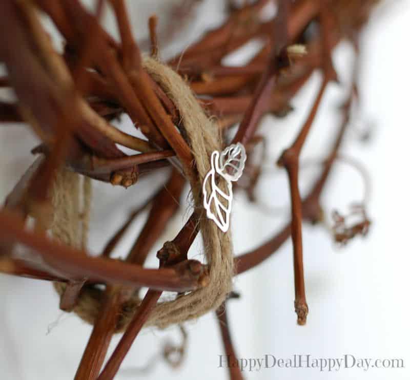 grapevine wreath up close