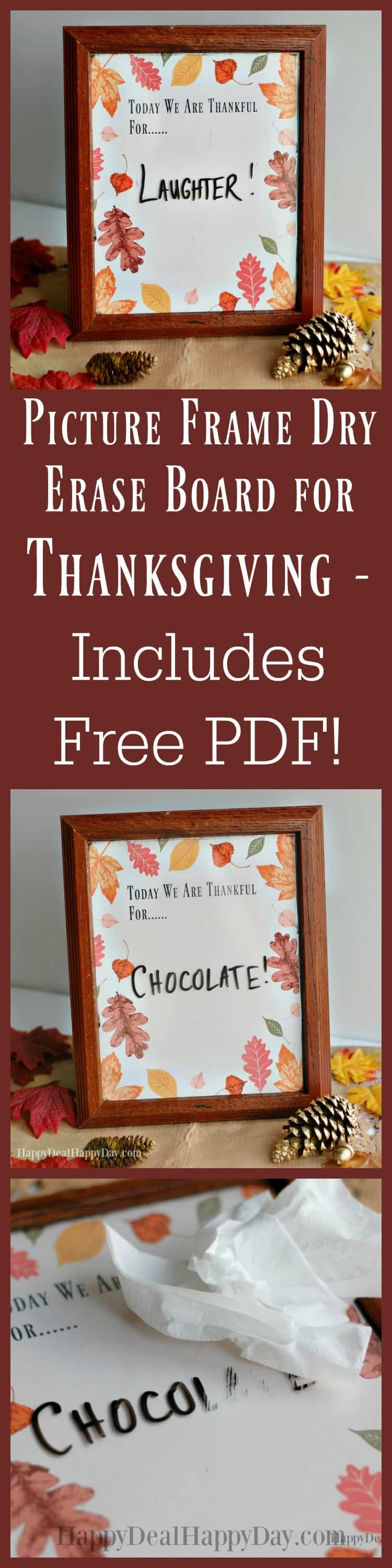 Picture Frame Dry Erase Board for Thanksgiving - Includes Free ...