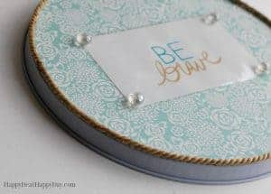 Dollar Store Makeover:  Handmade Decorative Magnetic Board