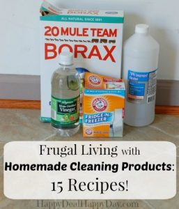 Frugal Living with Homemade Cleaning Products