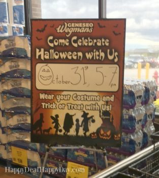 Wegmans Halloween Costume Party:  5:00-7:00 on Oct. 31st!  Have You Gone Before??