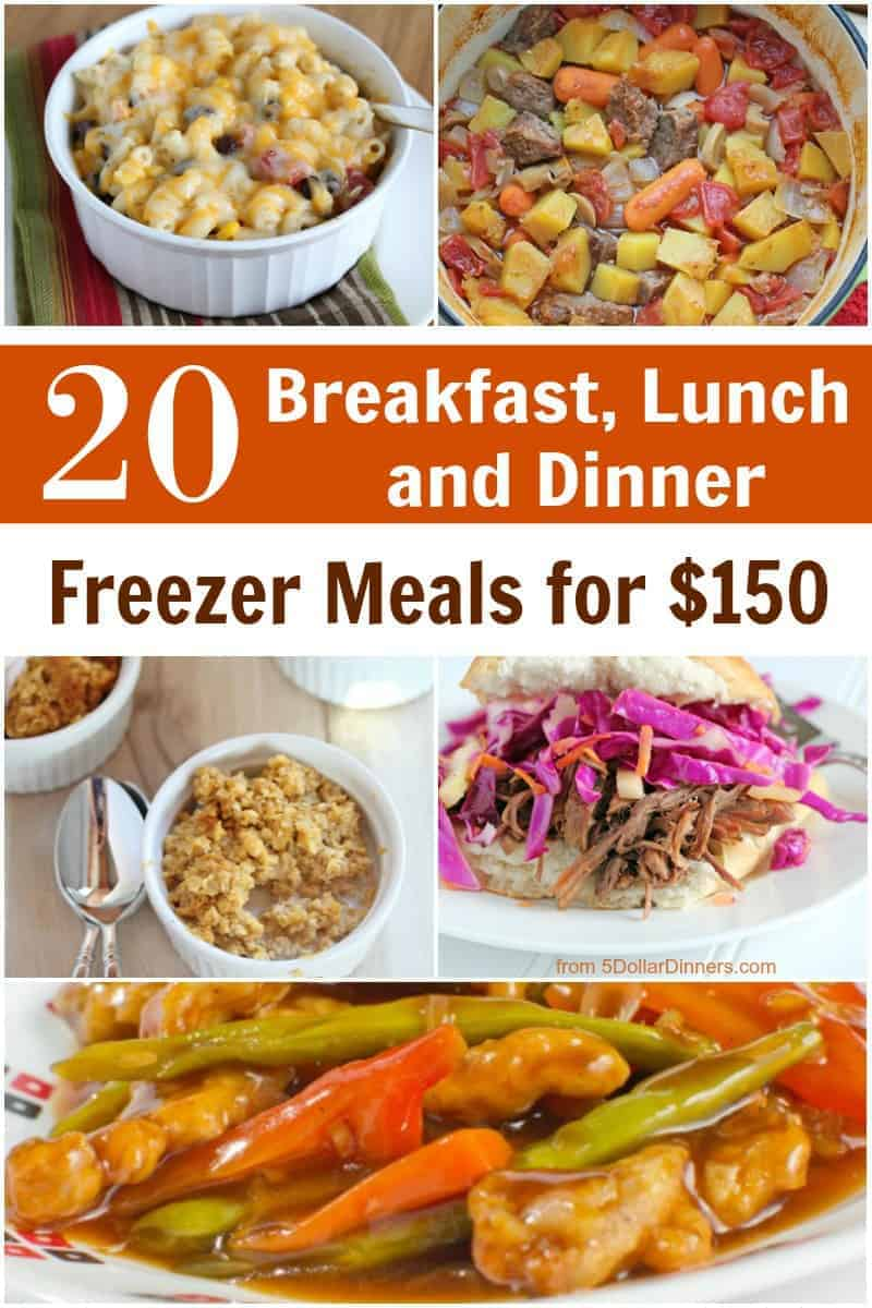 New Healthy Meal Plan: 20 Breakfast, Lunch & Dinner Meals for $150