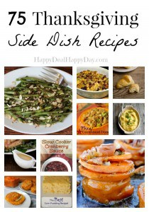 thanksgiving side dish collage text