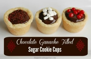 chocolate ganache filled cookie cups