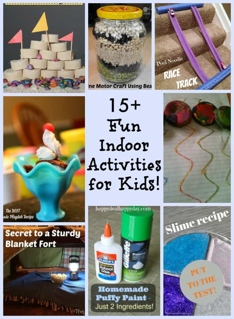 15+ Fun Indoor Activities for Kids That are Screen Free and Frugal!  When the kids are bored, or drivng you nuts, and you don't want them in front of the TV or Tablet - then read this for some great ideas!!