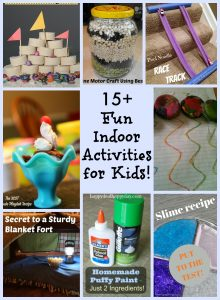 15+ Fun Indoor Activities for Kids That are Screen Free and Frugal!