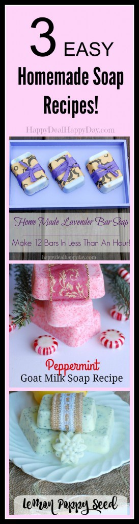homemade soap recipe Collage