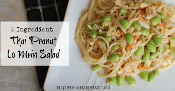 5 ingredient thai peanut lo mein salad horizontal