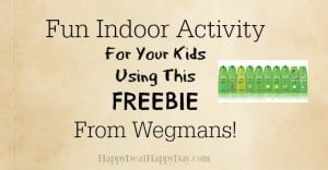 Fun Indoor Activity For Your Kids Using This FREEBIE From Wegmans!