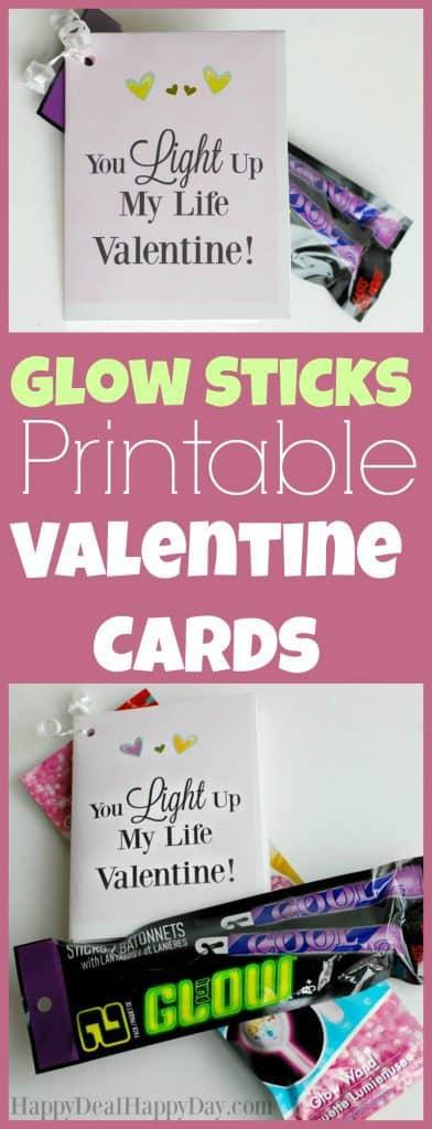 glow sticks printable valentine cards