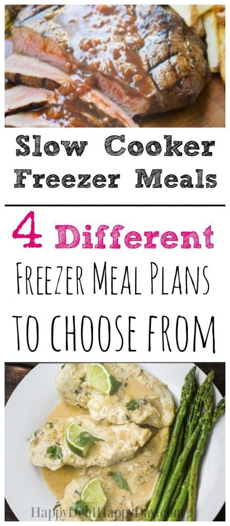 Slow cooker freezer meals - 4 different meal plans to choose from! Some of these are geared toward Aldi's Shoppers, but they all can be tailored to be used at any store.
