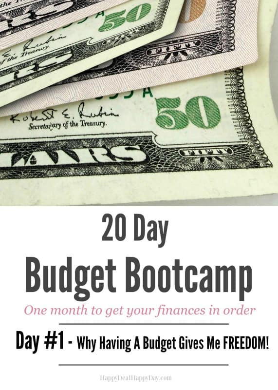 20 Day Budget Challenge – Day #1 Why Having A Budget Gives Me Freedom! Come join our Facebook group for discussion and support! Start 2017 strong by getting your finances in order!