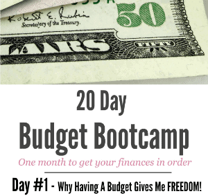 20 Day Budget Challenge – Day #1 Why Having A Budget Gives Me Freedom!