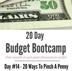 20 Day Budget Challenge:  Day #14 – 20 Ways To Pinch a Penny!