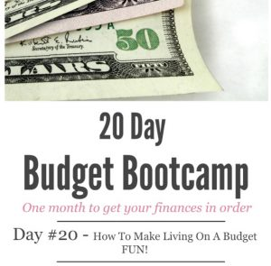 20 Day Budget Challenge: Day #20 – How to Make Living on a Budget FUN!