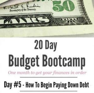 20 Day Budget Bootcamp:   How To Begin Paying Down Debt
