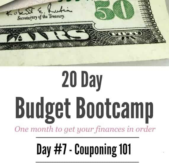 20 Day Budget Bootcamp:  Day #7 Couponing 101