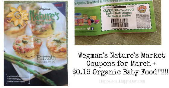 Wegmans Nature's Market Magazine Coupons for March + $0.19 Organic Baby Food Jars!
