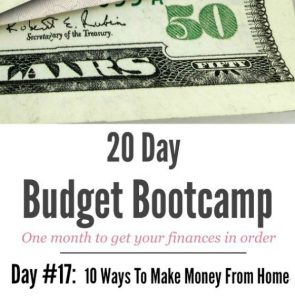 20 Day Budget Challenge:  Day #17 – Over 100 Ways to Work From Home