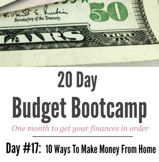 20 Day Budget Challenge:  Day #17 – Ways to Work From Home