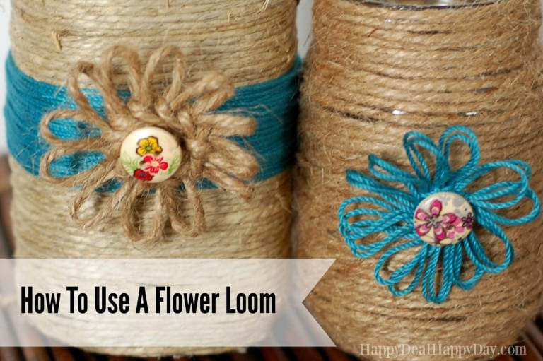 Rustic Home Decor:  How To Use a Flower Loom