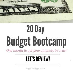 20 Day Budget Bootcamp Challenge – Let's Review!