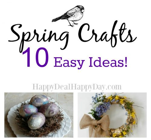 Spring Crafts – 10 Easy Ideas!