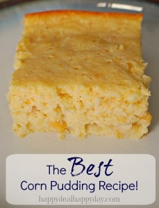 the best corn pudding reciep