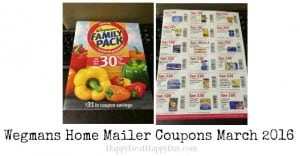 wegmans home mailer coupons march 2016