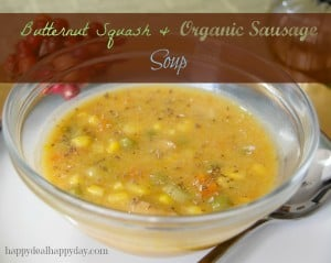 butternut squash organic sausage soup